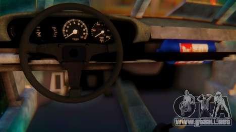Porsche 911 Death Race para GTA San Andreas vista posterior izquierda