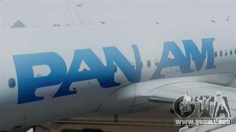 Airbus A320-200 Pan American World Airlines para la visión correcta GTA San Andreas