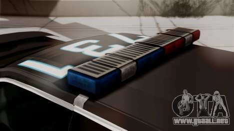Hunter Citizen from Burnout Paradise Police LS para GTA San Andreas vista hacia atrás