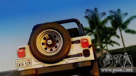 Jeep CJ-7 Renegade 1982 para la visión correcta GTA San Andreas