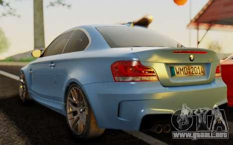 BMW 1M E82 para GTA San Andreas left