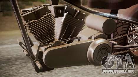LCC Hexer GTA 5 IVF para GTA San Andreas vista posterior izquierda