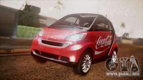 Smart ForTwo Coca-Cola Worker para GTA San Andreas