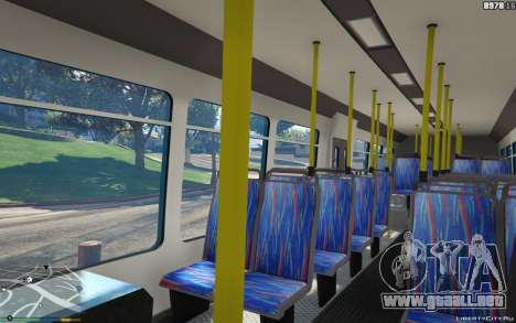 GTA 5 New Bus Textures v2 vista lateral derecha