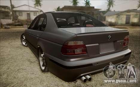 BMW M5 E39 E-Design para GTA San Andreas vista posterior izquierda