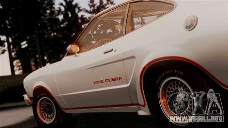 Ford Mustang King Cobra 1978 para GTA San Andreas vista hacia atrás