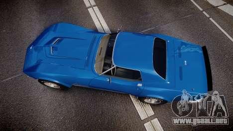 Chevrolet Corvette ZR1 1970 [EPM] para GTA 4 visión correcta
