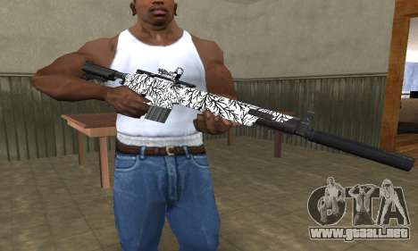 Black Lines Rifle para GTA San Andreas