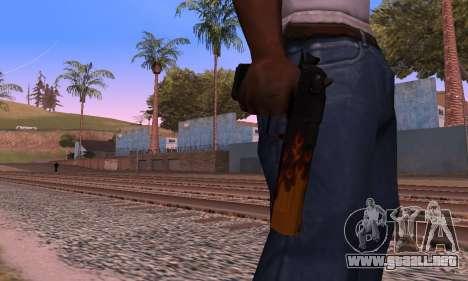 Deagle Flame para GTA San Andreas sucesivamente de pantalla
