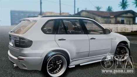 BMW X5M 2014 E-Tuning para la visión correcta GTA San Andreas
