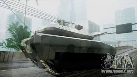 PL-01 Concept Camo para GTA San Andreas vista posterior izquierda