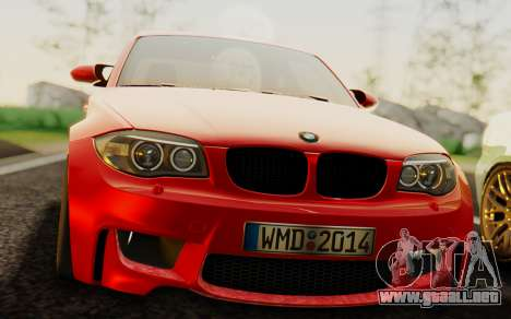 BMW 1M E82 para la visión correcta GTA San Andreas