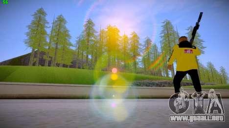 Supr3me Skin para GTA San Andreas sucesivamente de pantalla