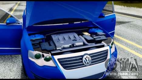 Volkswagen Passat B6 para visión interna GTA San Andreas