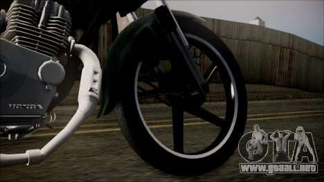 Zanella RX150 Planchada para GTA San Andreas vista posterior izquierda