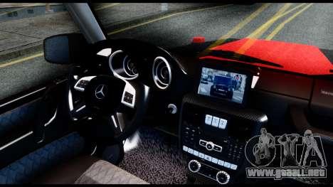 Mercedes-Benz G65 Hamann 2013 para GTA San Andreas vista posterior izquierda