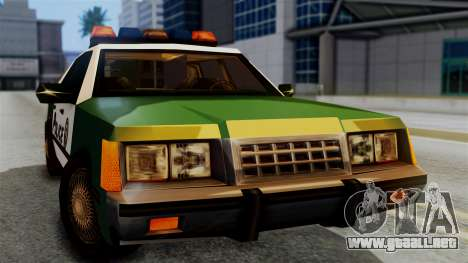 SAPD Cruiser para la visión correcta GTA San Andreas
