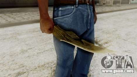 Elven Dagger para GTA San Andreas tercera pantalla