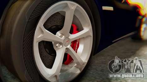 Chevrolet Corvette Sport para la visión correcta GTA San Andreas