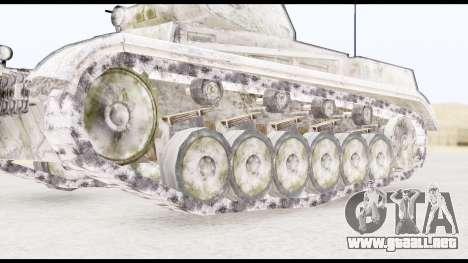 Panzerkampwagen II Snow para GTA San Andreas vista posterior izquierda