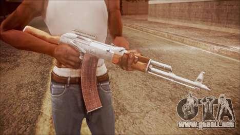 AK-47 v3 from Battlefield Hardline para GTA San Andreas tercera pantalla