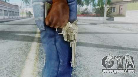 Red Dead Redemption Revolver Sergio para GTA San Andreas tercera pantalla