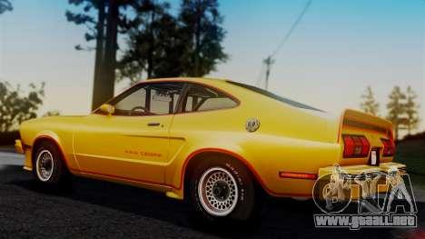 Ford Mustang King Cobra 1978 para GTA San Andreas interior