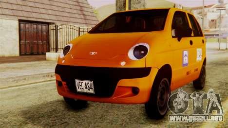 Daewoo Matiz Taxi para GTA San Andreas