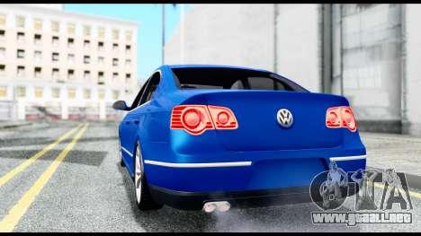 Volkswagen Passat B6 para GTA San Andreas vista posterior izquierda