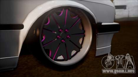 BMW E30 Cabrio B. O. de la Construcción para GTA San Andreas vista posterior izquierda