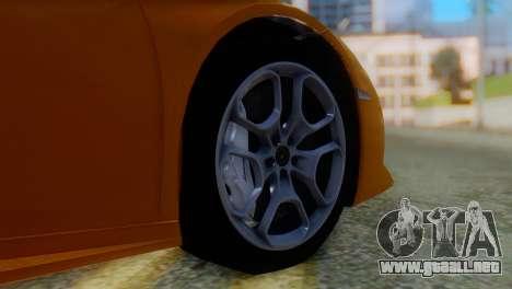 Lamborghini Huracan 2015 Horizon Wheels para GTA San Andreas vista posterior izquierda
