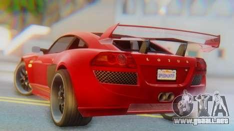Lotus Europe S Wide para GTA San Andreas left