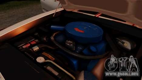 Ford Mustang King Cobra 1978 para la vista superior GTA San Andreas