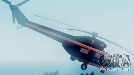 PZL W-3A Sokol para GTA San Andreas vista posterior izquierda