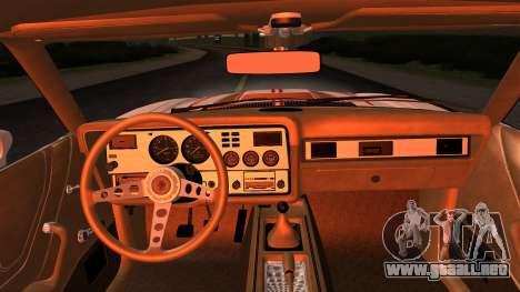 Ford Mustang King Cobra 1978 para visión interna GTA San Andreas