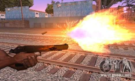 Deagle Flame para GTA San Andreas segunda pantalla