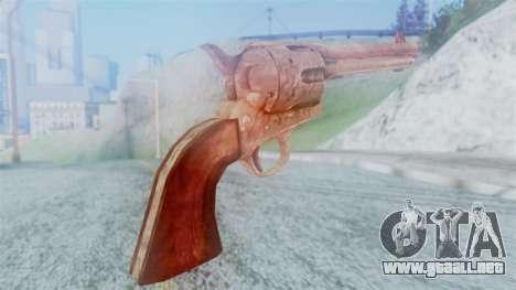 Red Dead Redemption Revolver Cattleman para GTA San Andreas segunda pantalla
