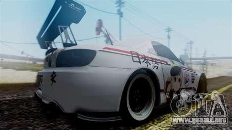 Honda S2000 Tuned Mugi Itasha para GTA San Andreas vista posterior izquierda