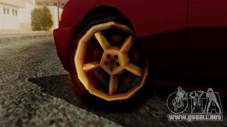 Flash New Edition para GTA San Andreas vista posterior izquierda
