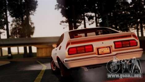 Ford Mustang King Cobra 1978 para la visión correcta GTA San Andreas
