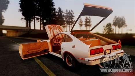 Ford Mustang King Cobra 1978 para vista inferior GTA San Andreas