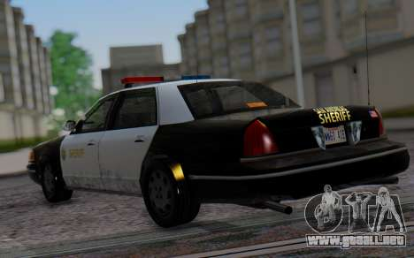 Ford Crown Victoria Sheriff para GTA San Andreas left