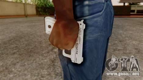 GTA 5 SNS Pistol para GTA San Andreas tercera pantalla