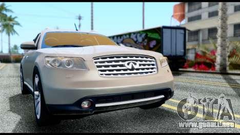 Infiniti FX45 para la visión correcta GTA San Andreas
