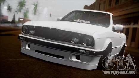 BMW E30 Cabrio B. O. de la Construcción para GTA San Andreas