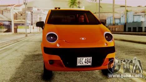 Daewoo Matiz Taxi para la visión correcta GTA San Andreas