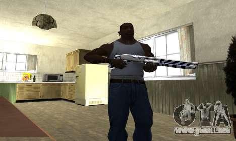 Black Lines Shotgun para GTA San Andreas tercera pantalla
