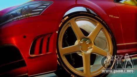 Mercedes-Benz S65 para GTA San Andreas vista posterior izquierda