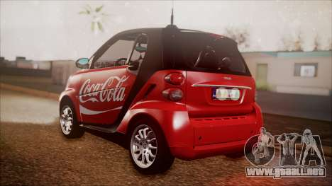 Smart ForTwo Coca-Cola Worker para GTA San Andreas left