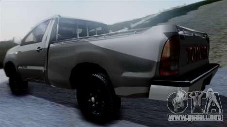 Toyota Hilux 2015 para GTA San Andreas left